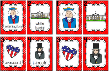 Write the Room - President's Day/American Symbols