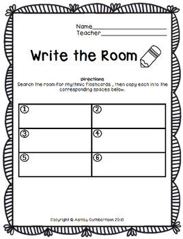 Write the Room:  Quarter Rest
