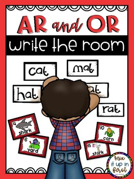 Write the Room- R-CONTROLLED VOWELS (AR, OR, IR, ER, AND UR) BUNDLE