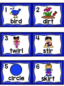 Write the Room- R-CONTROLLED VOWELS (IR, ER, AND UR)