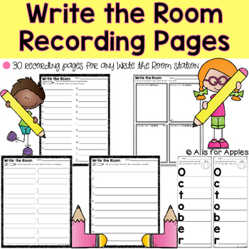Write the Room Recording Pages
