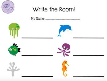 Write the Room (Rest, Ta, Ti-ti) Sea Animals