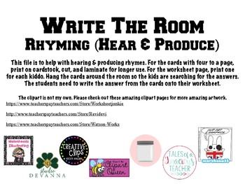 Write the Room- Rhyming