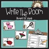 CVC Words Rhyming Activity- Write the Room