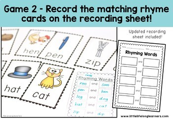 Write the Room - Rhyming Words - Word Family Activity