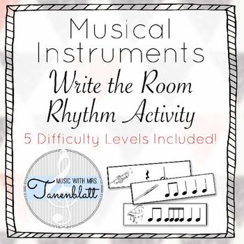 Write the Room Rhythm Activity - Musical Instrument Theme