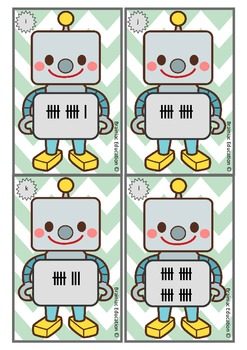 Write the Room - Robot Tally Marks to 20