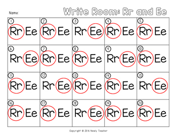 Write the Room - Rr and Ee