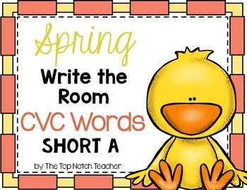 Write the Room {SPRING Themed} CVC Words Short A