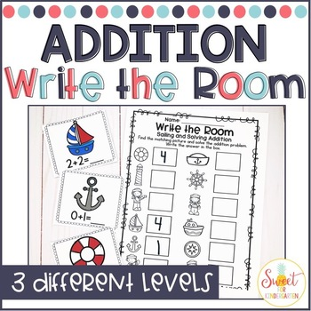 Write the Room- Sailing and Solving Addition