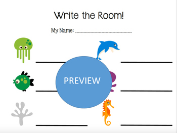 Write the Room Rhythmic Bundled Set - Sea Animals
