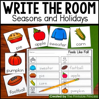 Write the Room Seasons and Holidays {20 Activities Included}