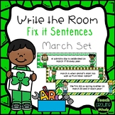Write the Room Sentence Fix It March Set