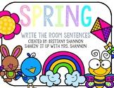 Write the Room Sentences: Spring