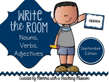 Write the Room : September Edition Nouns, Verbs, Adjectives