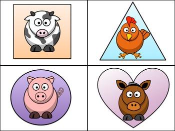 Write the Room (Shapes) - Farm Animal Theme