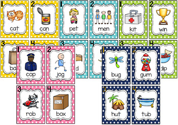 Write the Room - Short & Long Vowel Word Family BUNDLE