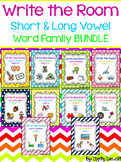 Write the Room - Short & Long Vowel Word Family BUNDLE