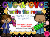 Write the Room Short & Long Vowel Words CVC & CVCe