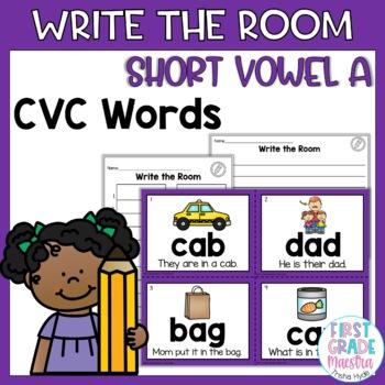 Write the Room Short Vowel A