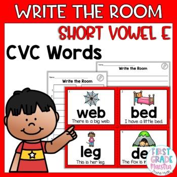 Write the Room Short Vowel E
