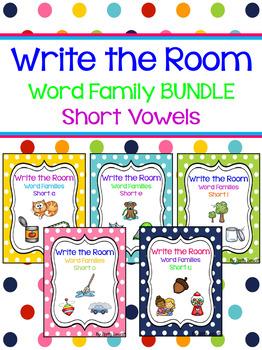 Write the Room - Short Vowel Word Family BUNDLE