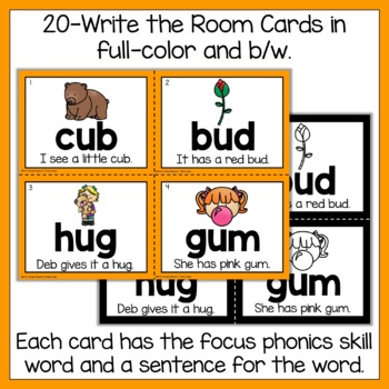 Write the Room Short Vowel U