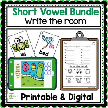 Write the Room Short Vowels Bundle #tptsupportsmallshops
