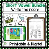 Short Vowels Write the Room Bundle