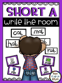 Write the Room- Short and Long Vowels Bundle