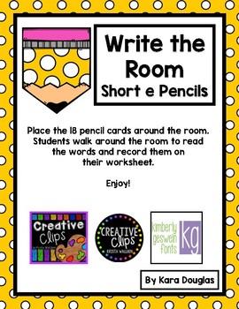 Write the Room Short e Pencils