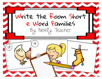 Write the Room Short e Word Families
