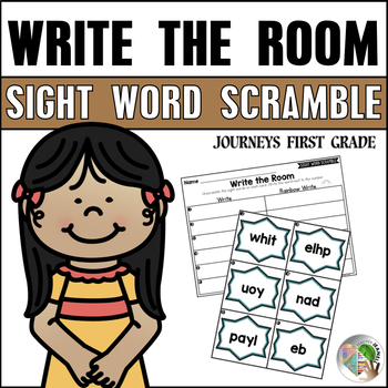 Journeys Write the Room Sight Word Scramble First Grade Units 1-6