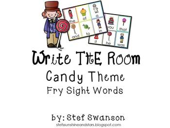 Write the Room Sight Words {Candy Theme}