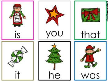 Write the Room Sight Words {Christmas Theme}