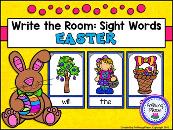 Write the Room: Sight Words - Easter {Editable}