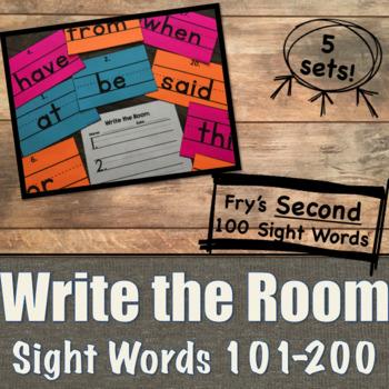 Write the Room Sight Words Fry's 101-200  [Penmanship]