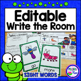 Write the Room: Sight Words - Garden Insects Bugs and Slug