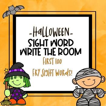 Write the Room Sight Words -Halloween Theme-