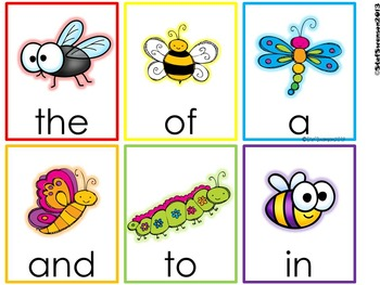 Write the Room Sight Words {Insect Theme}