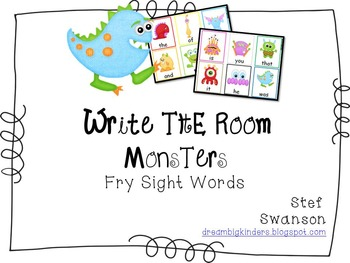 Write the Room Sight Words {Monster Theme}