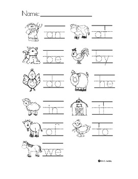 Write the Room Sight Words Pack 2 with a Farm Theme