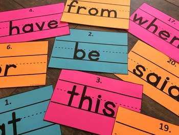 Write the Room Sight Words [Penmanship]