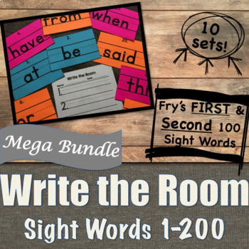 Write the Room Sight Words [Penmanship] Mega Bundle