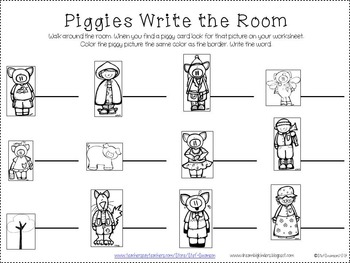 Write the Room Sight Words {Piggies Theme and Little Red Theme}