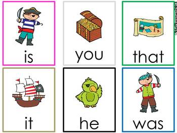 Write the Room Sight Words {Pirates Theme}