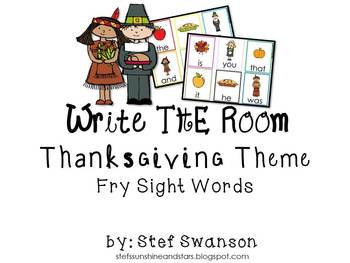 Write the Room Sight Words {ThanksgivingTheme}