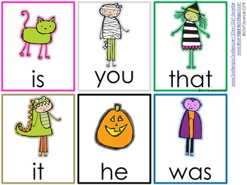 Write the Room Sight Words {Trick or Treating Theme}
