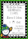 Write the Room Snowball Fight! Music Edition ta ti-ti Set