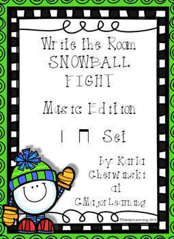 Write the Room Snowball Fight! Music Edition ta ti-ti Set